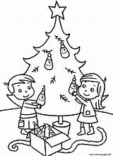 Coloring Christmas Tree Pages Printable Decorating Children B198 Sibling Colouring Trees Sheets Merry Adults Books Decorated Decor Siblings A3 Greetings sketch template