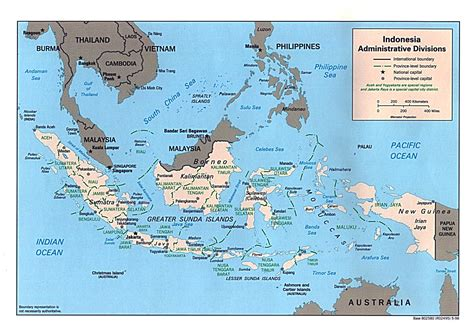 detailed administrative map  indonesia indonesia