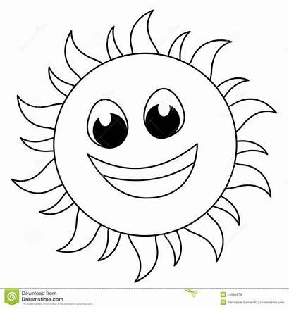Sun Clipart Coloring Line Sketch Het Zon