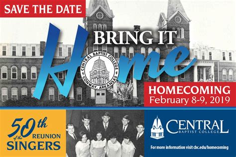 homecoming save date central baptist college