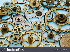 Photo Of Old Clock Gears Horizontal
