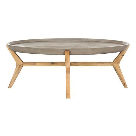 oval concrete coffee table safavieh hadwin modern concrete oval coffee table