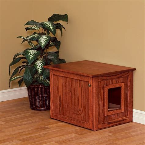 Cabinet Litter Box by Amish Made Cat Litter Box Cabinet Medium