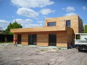 Bardage Façade Maison : bardage de maison container rev tement en bois pvc t le ~ Nature-et-papiers.com Idées de Décoration