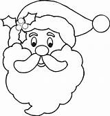 Coloring Santa Claus Face Beard Popular sketch template