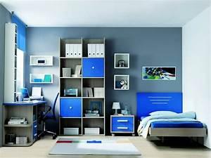 Habitación azul y gris Tomás