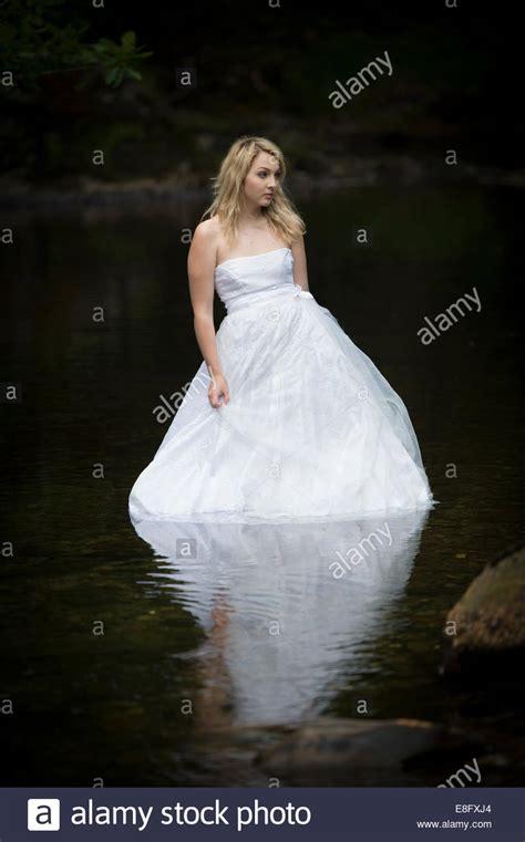 trash  dress  young blonde woman girl model bride