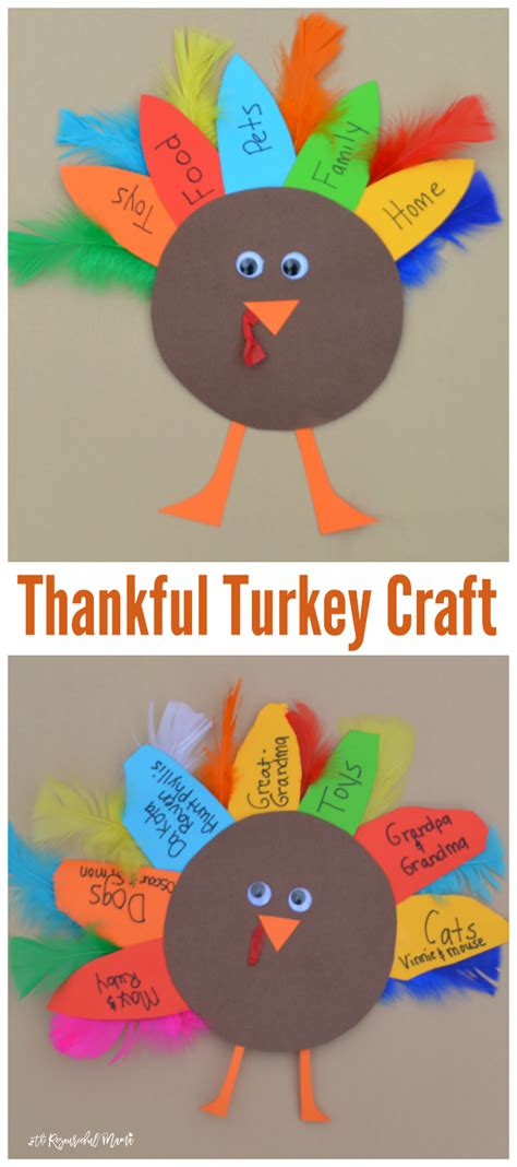 thankful turkey kid craft and book the resourceful 271 | thankful turkey long collage 2 1