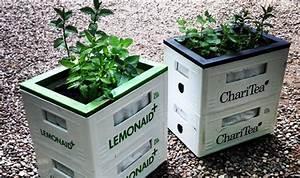 Hochbeet Mit Stauraum : urban gardening mit lemonaid charitea upcycling diy pinterest garten getr nkekisten und ~ Yasmunasinghe.com Haus und Dekorationen