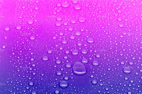 Neon colored water drops background | High-Quality ...
