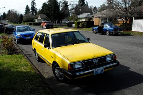 subaru wagon 1980 old parked cars 1980 subaru gl wagon