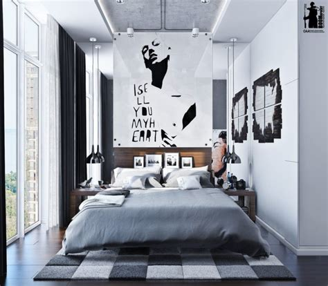 modern urban bedroom decor  grey  white digsdigs