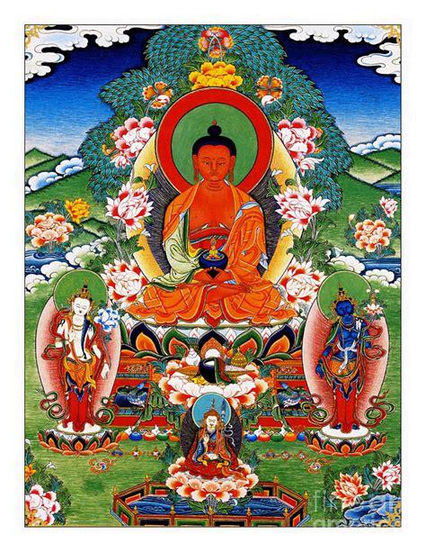 namo amitabha buddha 40 painting by jeelan clark