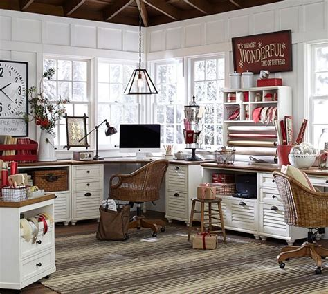 pottery barn office furniture dreaming of an office the wood grain cottage