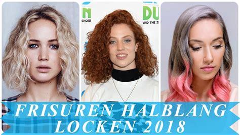 locken frisuren halblang frisurentrends damen locken halblang 2018