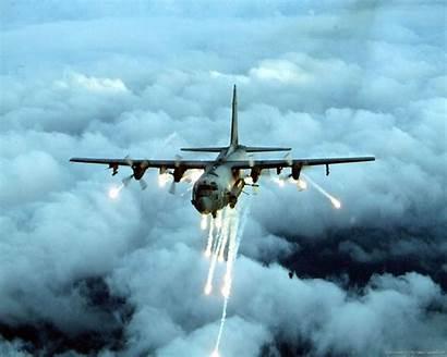 130 Gunship Ac Spectre Aircraft Transport Flares