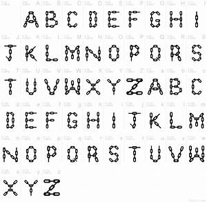 Chain letters font for Alphabet chain letter