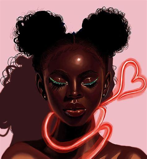 zeroing melanin  neon  everestherr black girl