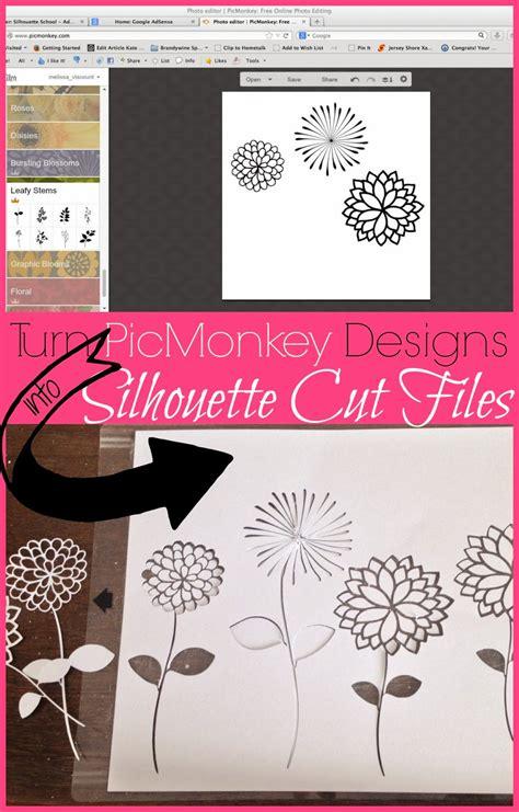 silhouette design studio how to cut picmonkey designs in silhouette studio