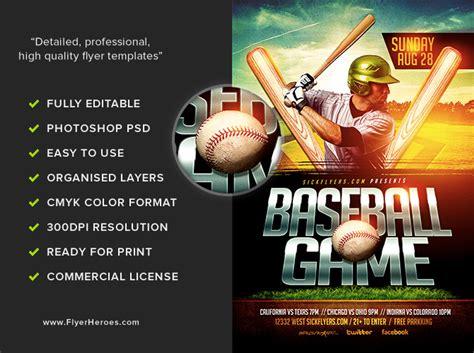 Baseball Fundraiser Flyer Template - Costumepartyrun