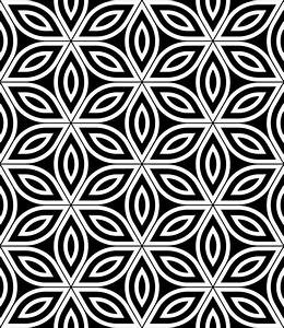 Vector modern seamless sacred geometry pattern , black and ...