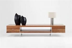 Tv Tisch Holz : fernsehtisch 22 super effektvolle modelle ~ Lateststills.com Haus und Dekorationen