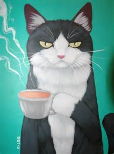 Tuxie with coffee