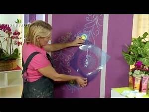 diy deco peindre au pochoir une fresque murale With pochoir mural a peindre