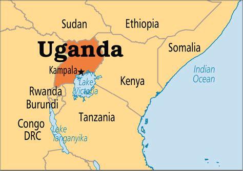 uganda capital map