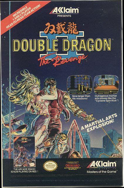 1990 Ad For Nes Double Dragon Ii Game Jeux Vidéo Jeux