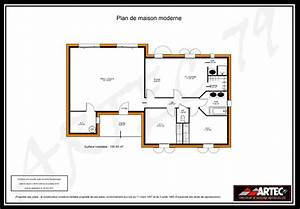 plan maison moderne 100m2 mc immo With plan maison en l 100m2 17 bessines maison contemporaine
