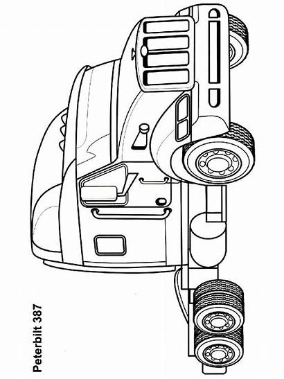 Semi Coloring Truck Pages Boys Outline Trucks