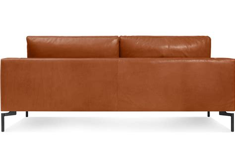 78 inch leather sofa new standard 78 quot leather sofa hivemodern com
