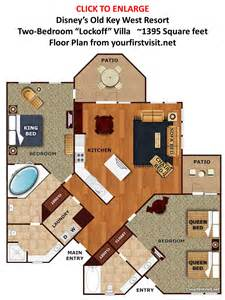 1 bedroom floor plan studio second bedroom spaces at disney 39 s key west