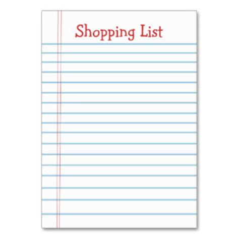 printable shopping list template business card website