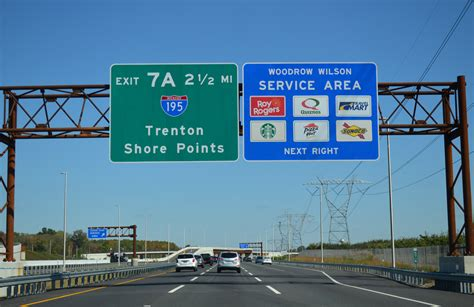 Service Nj by Interstate 95 New Jersey Turnpike Trenton To