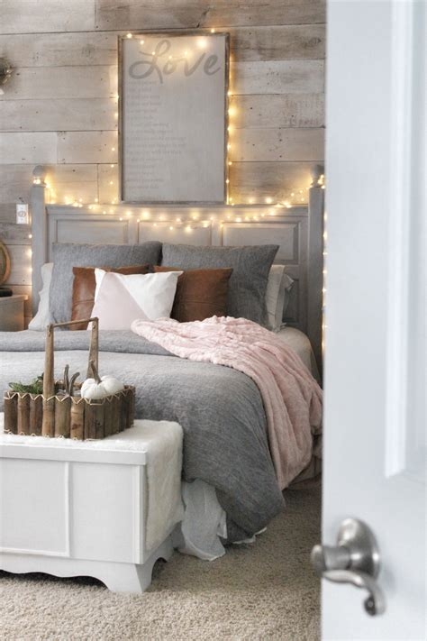 cozy bedroom reveal   chalk painted pillow simple