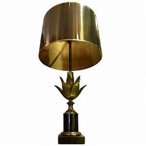"""Lampe """"Lotus"""", Maison Charles à Paris époque 1970"""