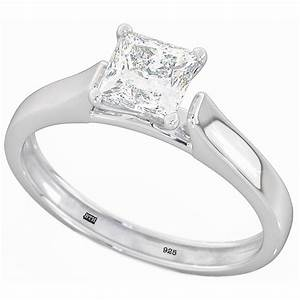 925 sterling silver ladies princess cut solitaire wedding With 925 sterling silver wedding rings
