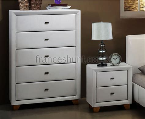Bedroom Drawers White by Jersey 5 Drawer White Faux Leather Chest White Bedroom