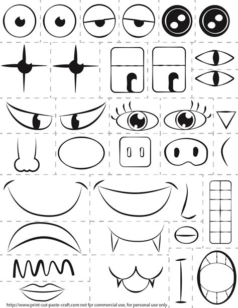 printable kids activity   faceexploring emotions