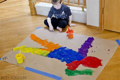 body paint process preschoolers toddler painting activities toddlers activity busy fun