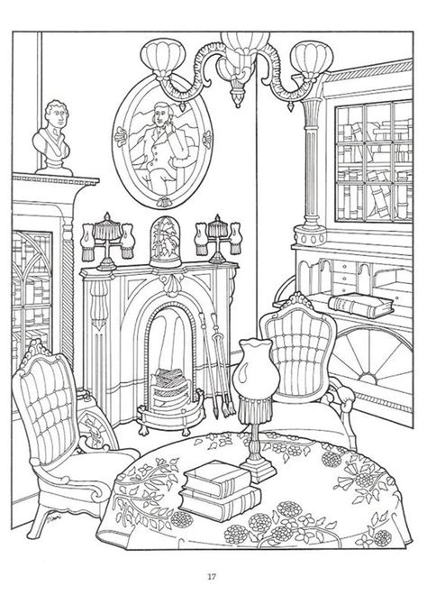 living room  victorian house difficult coloring pages coloring pages coloring books