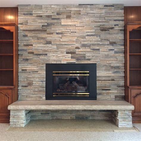 pro fit alpine ledge stone  echo ridge fireplace
