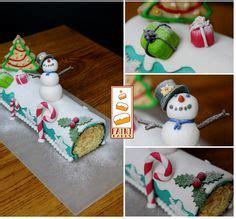 buche de noel en pate a sucre 1000 images about no 235 l on noel fimo and santa cake