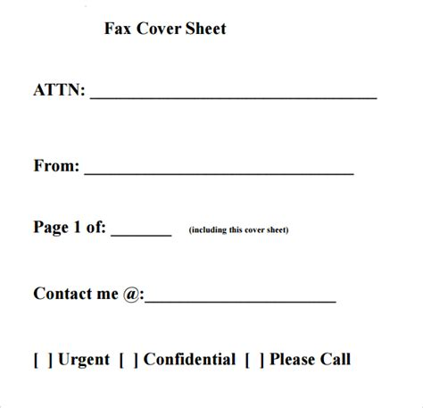 Cover Sheet Template Fax Cover Sheet Templates Pdf Printable
