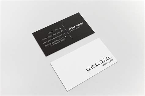 business card    black bear design