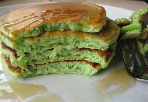 If you do get your hands on fresh pandan, i would toast the pandan leaves for 30 seconds and then steep them in the milk for 30 minutes. St. Patrick's Day - Pandan Pancakes. (With images)   Cooking recipes, Food, Pancakes
