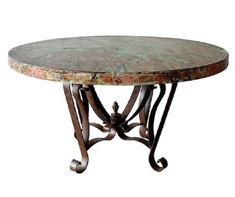 tin top dining table best of round metal top dining table decorate