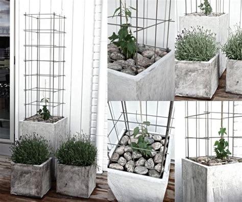 einfache pflanzk 252 bel mit geometrischen formen bastelanleitungen gartendeko aus beton garten